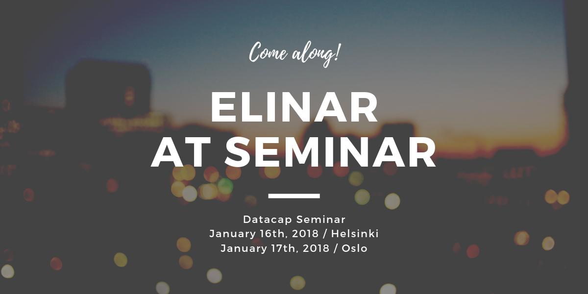 Datacap Seminar in Helsinki and Oslo