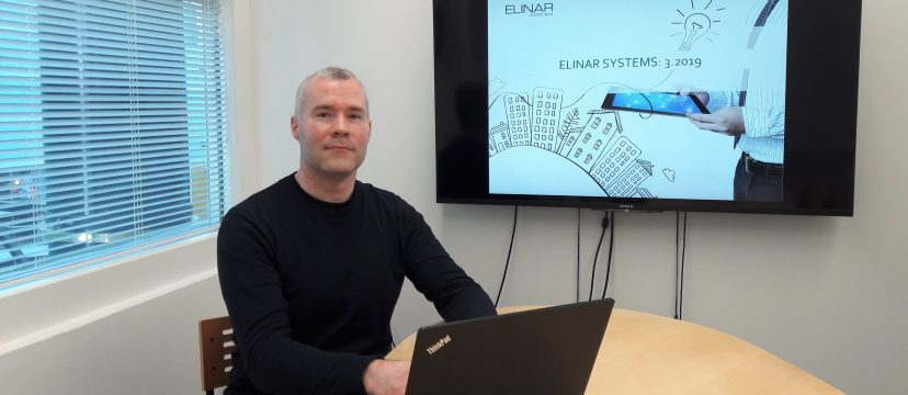 Elinar's Systems Team Leader Ilkka Olli likes moving to counterbalance statistic work