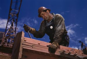 A man working in a building site
