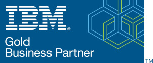 Logo of IBM Gold Business Partner, which Elinar is.