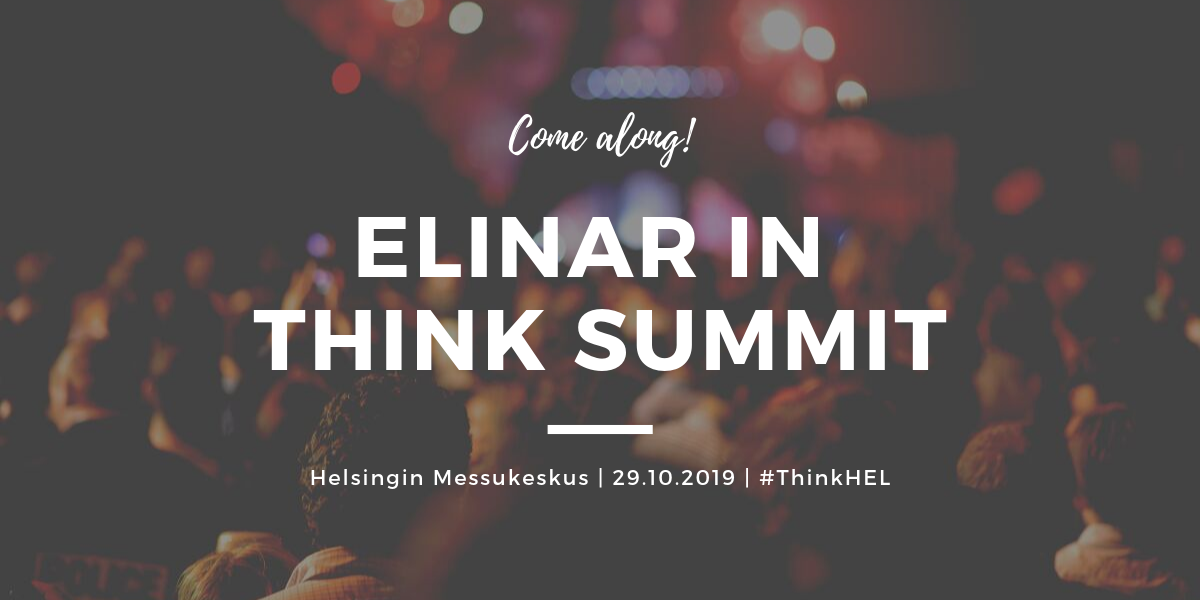 Elinar is going in Think Summit