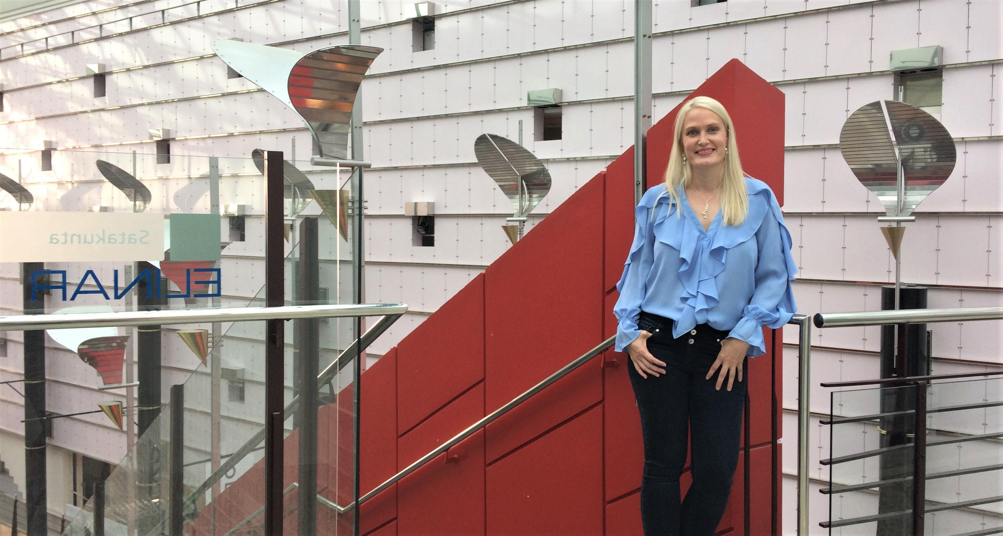 Marketing Manager of Elinar, Leena Tähti standing in BEPOP