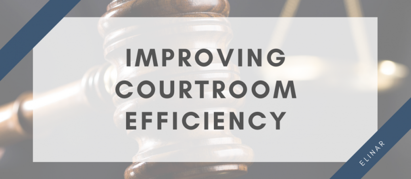 Improving courtroom efficiensy