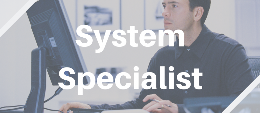 We are looking for System Specialist