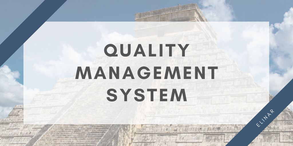 Elinar's quality management system