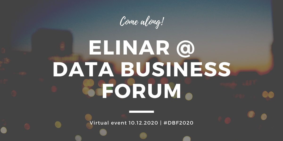 Elinar will be at Data Business Forum