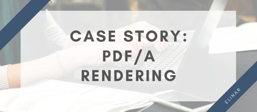 PDF/A rendering