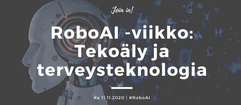 RoboAI-viikko -esite: tekoäly ja terveysteknologia