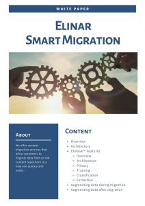 Cover page - White paper - Elinar smart migration