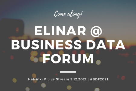 Elinar at Business Data Forum 9th of December 2021